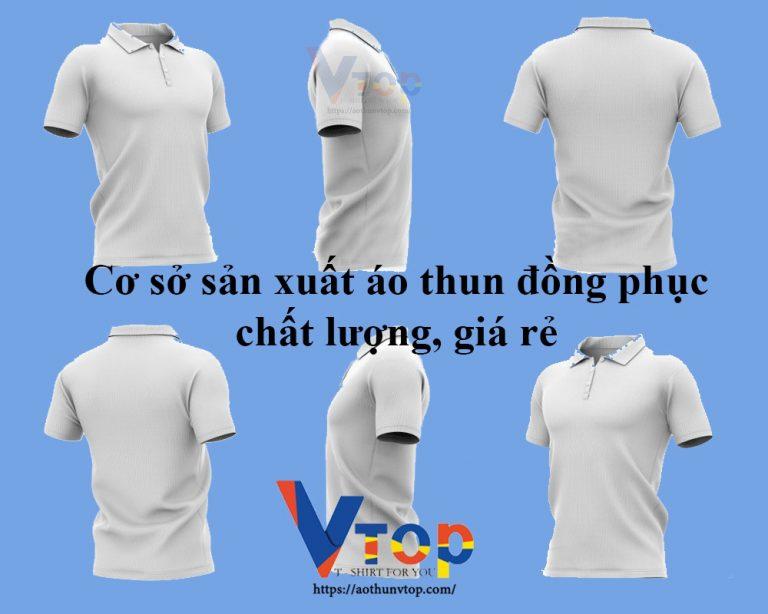 Cơ sở sản xuất áo thun đồng phục, áo thun cá sấu giá rẻ