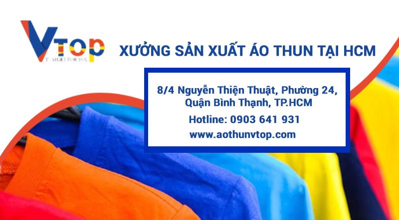 xưởng sản xuất áo thun tphcm