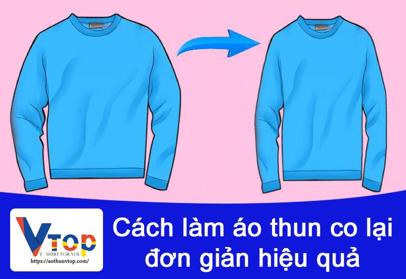 Cách làm co áo thun lại