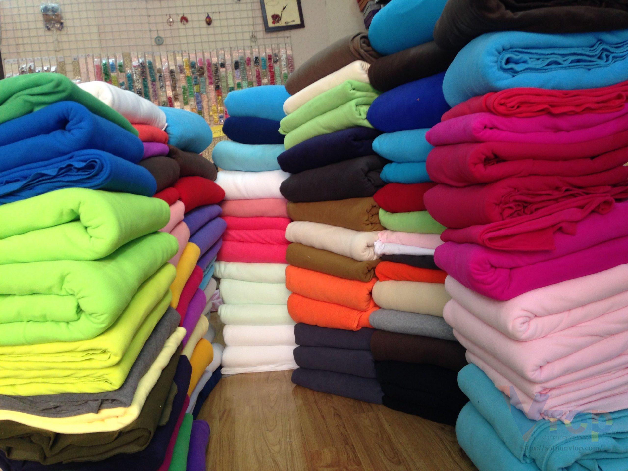 Phân biệt vải thun dựa vào tỉ lệ sợi cotton và sợi PE có trong vải