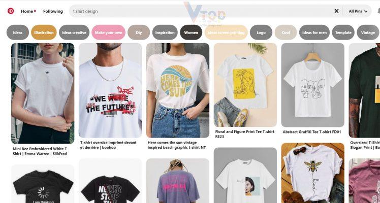 Ý tưởng bán áo thun trên mạng